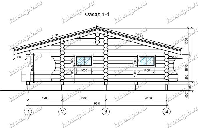 Дом из бревна 6х10
