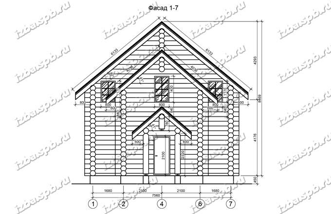 Дом из бревна 8,5х11