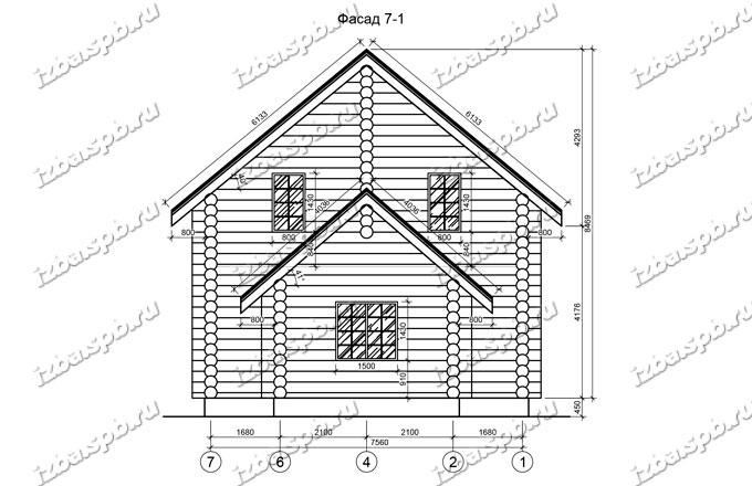 Дом-из-бревна-8,5х11-вид-2-(проект-Л19)