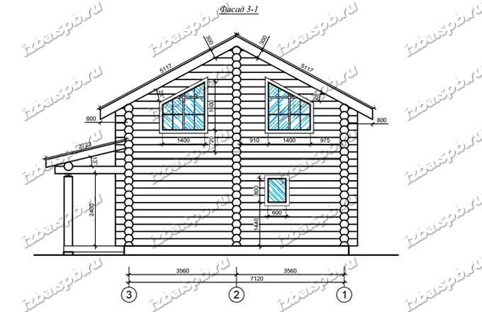 Дом-из-бревна-8х9-вид-2(проект-А0012)