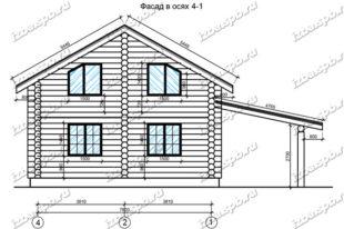Дом-из-бревна-9х10-вид-1-(проект-Ф293)