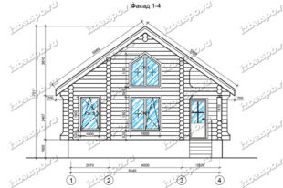 Дом-из-бревна-9х10-вид-1-(проект-Н1864)