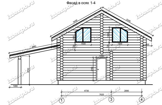 Дом-из-бревна-9х10-вид-3-(проект-Ф293)