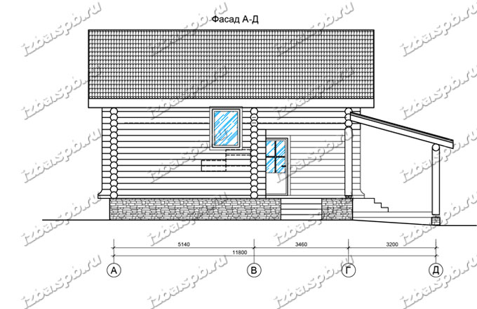 Дом-из-бревна-9х12-вид-2-(проект-Л84)