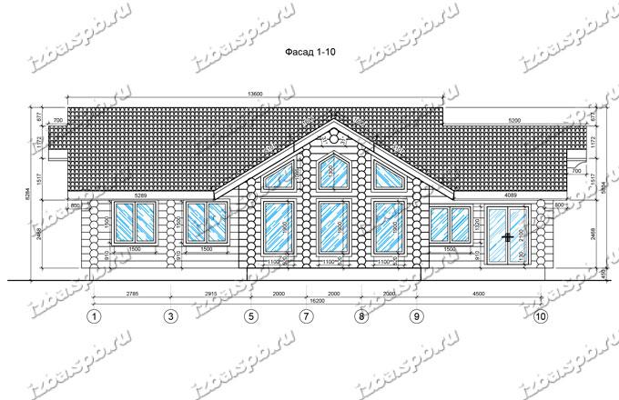 Дом из бревна 17х16