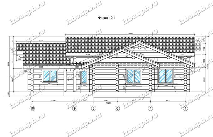 Дом-из-бревна-17,1х16,4,-вид-2-(проект-1015)