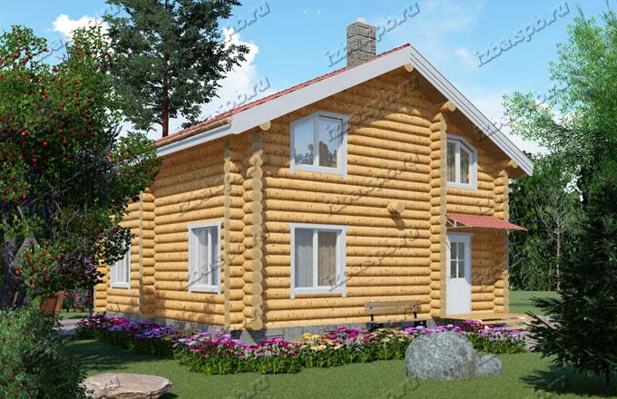 Проект-дома-из-бревна-9х9