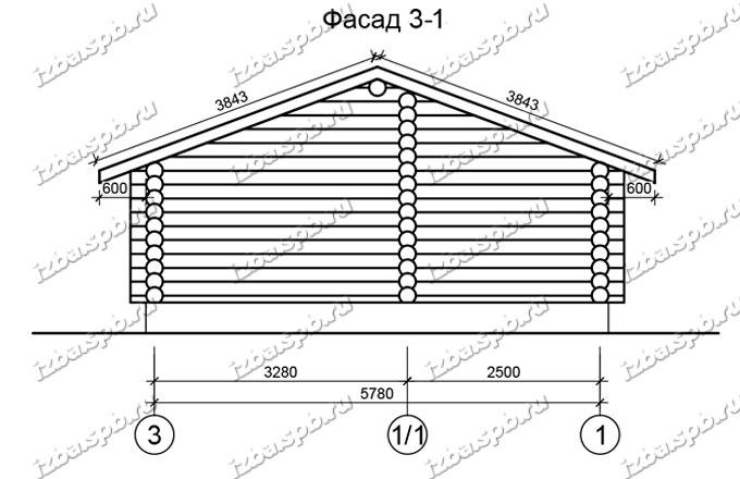 Баня-из-бревна-6х6-вид-2-(проект-Н222)