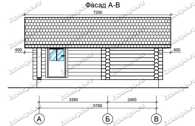 Баня-из-бревна-6х6-вид-3-(проект-Н222)