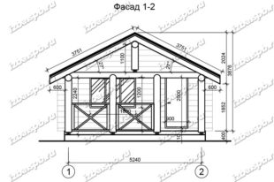 Баня-из-бревна-6х7-вид-1-(проект-Л60)