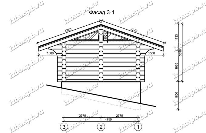 Баня-из-бревна-6х9-вид-2-(проект-1017)
