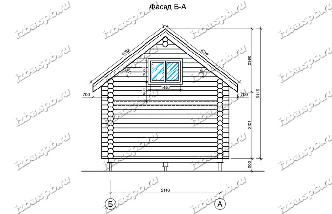 Дом-баня-и-бревна-6х8-вид-2-(проект-Л487)