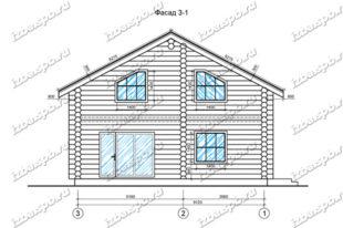 Дом-из-бревна-10х10-вид-1-(проект-А0022)