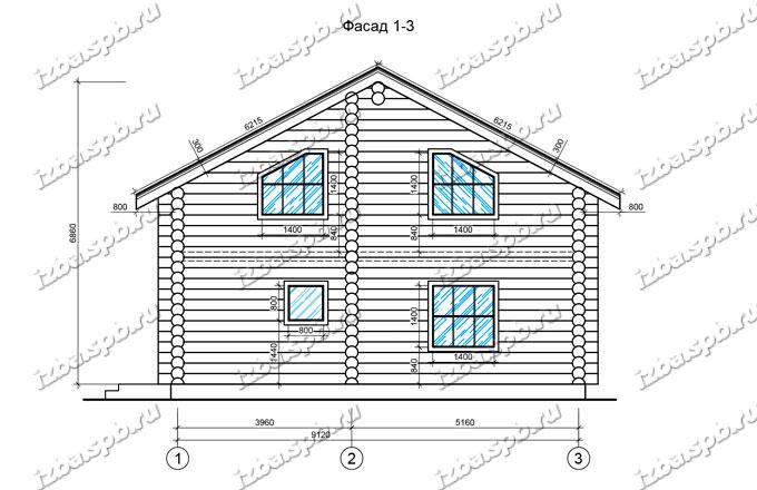Дом-из-бревна-10х10-вид-2-(проект-А0022)
