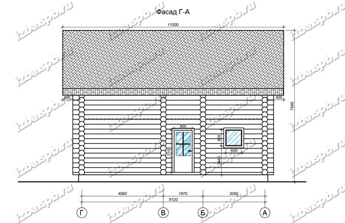 Дом-из-бревна-10х10-вид-3-(проект-А0022)
