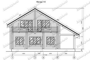 Дом-из-бревна-10х12-вид-1-(проект-Л135)