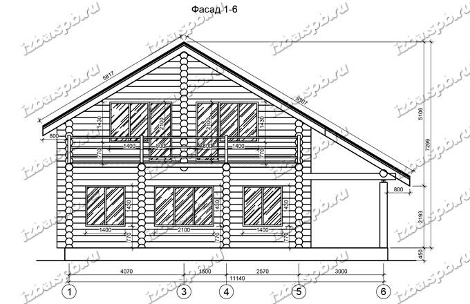 Дом из бревна 10х12