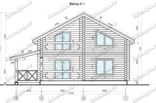 Дом-из-бревна-12х12-вид-1-(проект-Л60)
