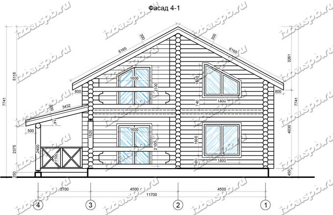 Дом из бревна 12х12