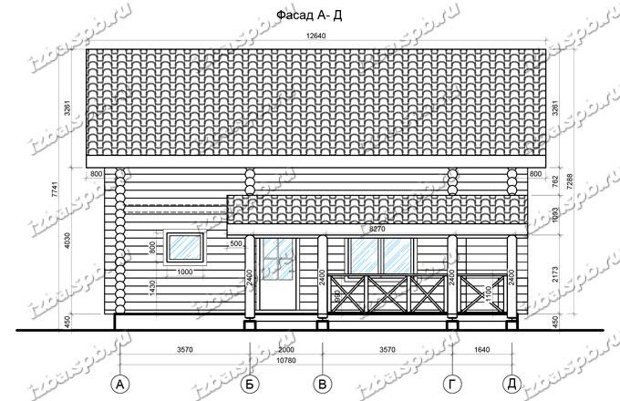 Дом-из-бревна-12х12-вид-2-(проект-Л60)