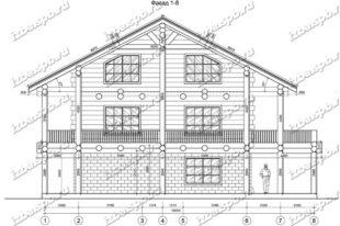 Дом-из-бревна-12х16-вид-1-(проект-А0107)