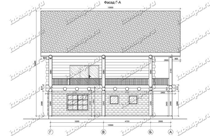 Дом-из-бревна-12х16-вид-3-(проект-А0107)