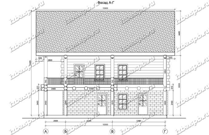 Дом-из-бревна-12х16-вид-4-(проект-А0107)