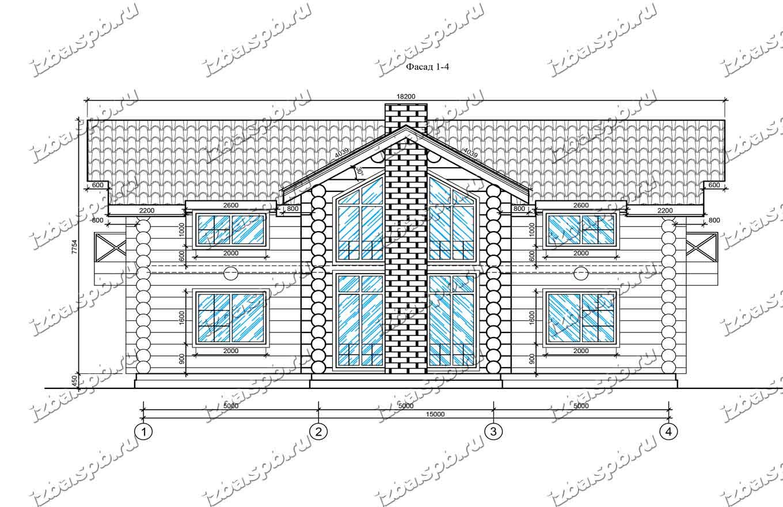 Дом-из-бревна-13х16-вид-1-(проект-Л85)
