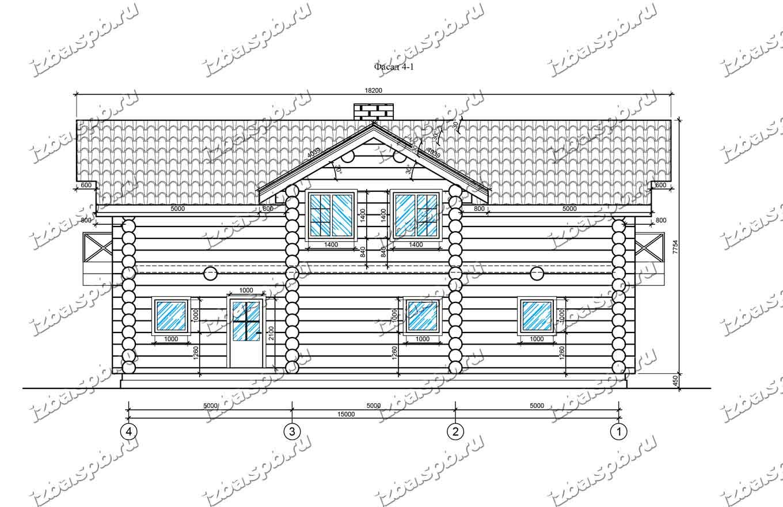 Дом-из-бревна-13х16-вид-3-(проект-Л85)