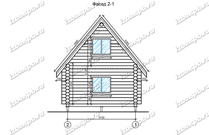 Дом-из-бревна-6х8-вид-2-(проект-Н303)