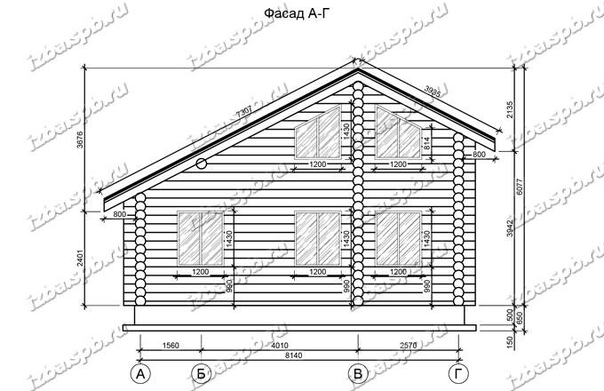 Дом из бревна 6х9