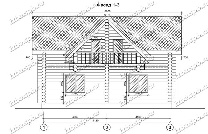 Дом из бревна 8х10