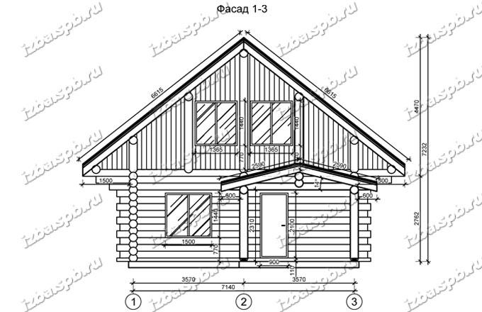Дом из бревна 8х11