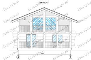 Дом-из-бревна-9х9-вид-1-(проект-938-каркас)