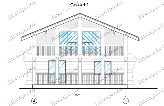 Дом из бревна 9х9