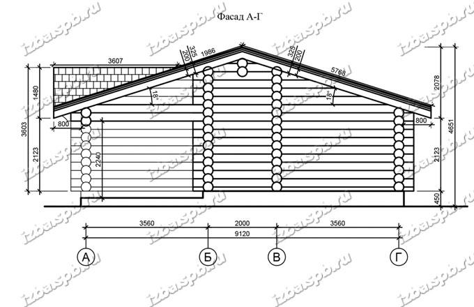 Баня-из-бревна-10х16-вид4-(проект-Л77)