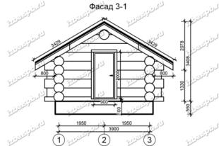 Баня-из-бревна-5х6,-вид-1-(проект-Н116)