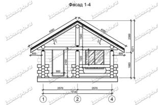 Баня-из-бревна-6х10,-вид-1-(проект-Л207)