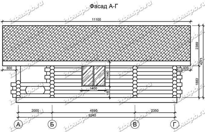 Баня-из-бревна-6х10,-вид-3-(проект-Л207)