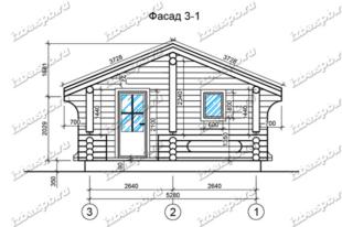 Баня-из-бревна-6х8,-вид-1-(проект-Л466)