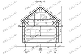 Дом-баня-из-бревна-6х8,-вид-1-(проект-Н49)