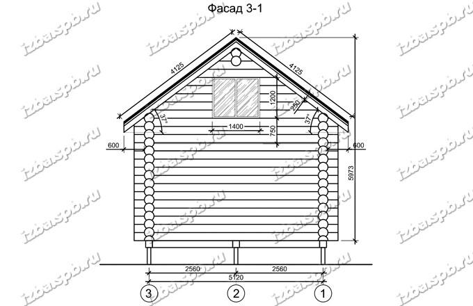 Дом-баня-из-бревна-6х8,-вид-2-(проект-Н49)