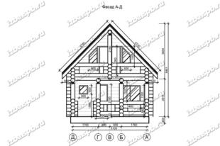 Дом-баня-из-бревна-6х8,5-вид-1-(проект-Н435)