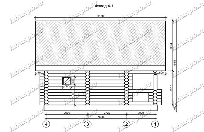 Дом-баня-из-бревна-6х8,5-вид-2-(проект-Н435)