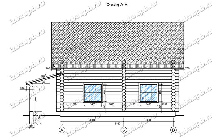 Дом-из-бревна-10х10,-вид-3-(проект-ДНП-3-слобода)