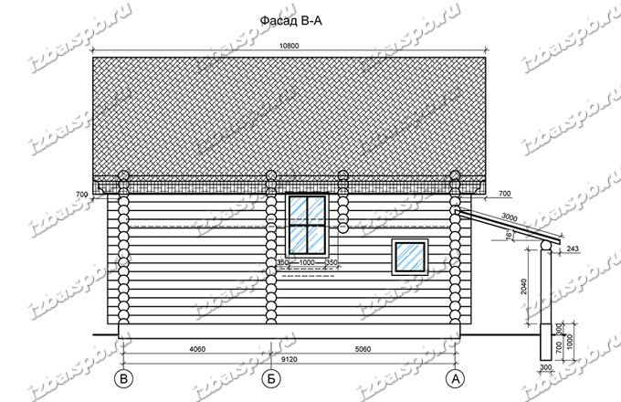 Дом-из-бревна-10х10,-вид-4-(проект-ДНП-3-слобода)