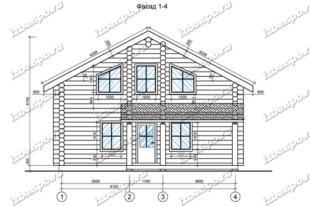 Дом-из-бревна-10х12,-вид-1-(проект-Е006)