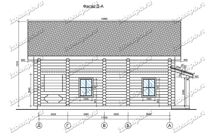 Дом-из-бревна-10х12,-вид-3-(проект-Е006)