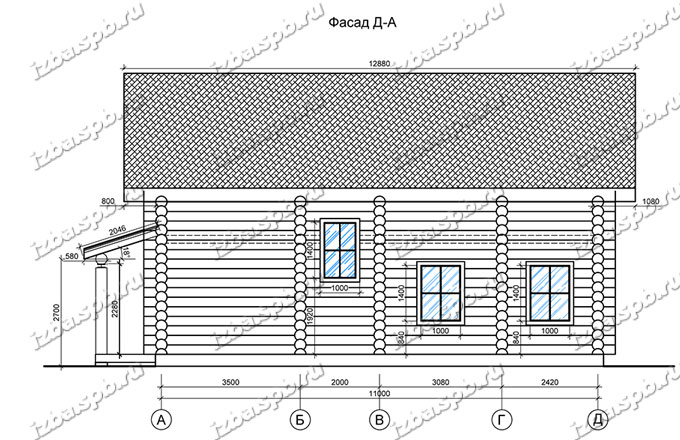 Дом-из-бревна-10х12,-вид-4-(проект-Е006)