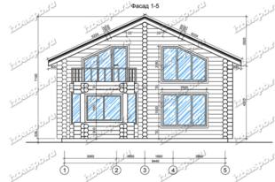 Дом-из-бревна-10х13,-вид-1-(проект-В2-1)